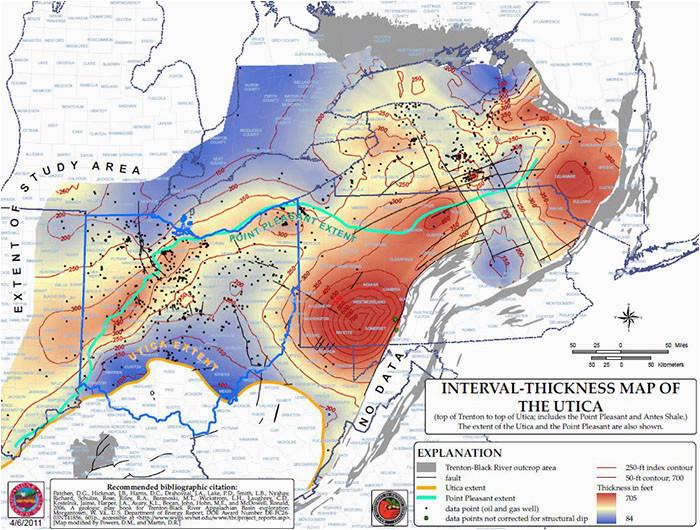 Utica Shale Map Ohio   secretmuseum
