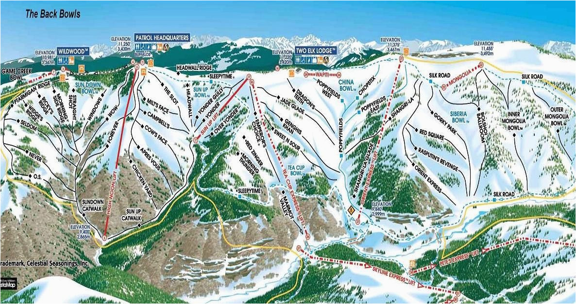 the back bowls vail co colorado pinterest skiing trail