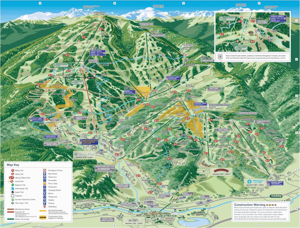 trail maps arrowhead at vail