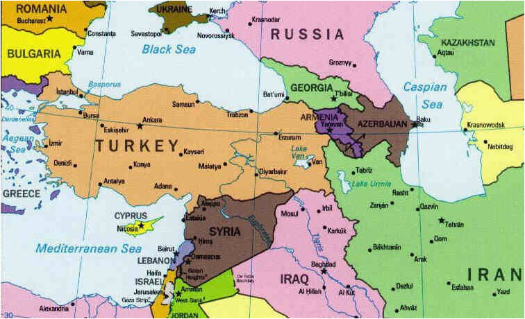 world map showing turkey physical map of turkey showing the layout
