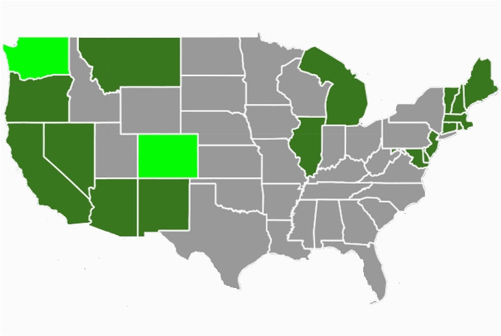 state marijuana laws in 2018 map
