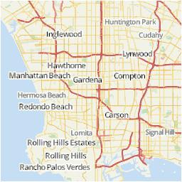 los angeles area map u s news travel