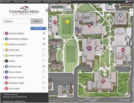 campus maps colorado mesa university