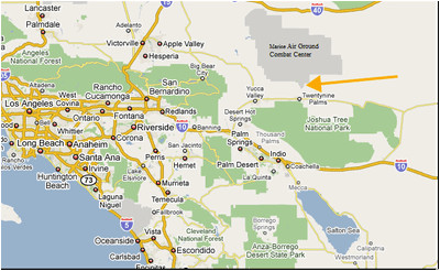 Map Of California 29 Palms.Where Is 29 Palms California On The Map Secretmuseum