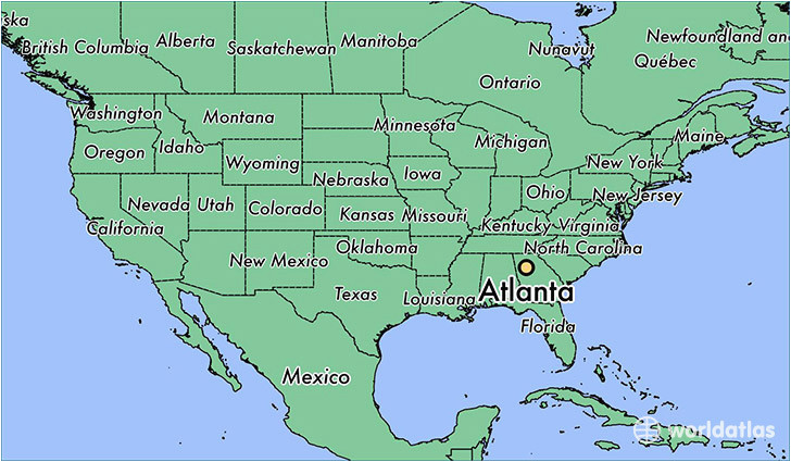Map Of Usa Georgia.Where Is Atlanta Georgia On The Map Of Usa Secretmuseum