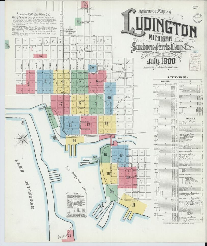 map 1900 to 1909 michigan library of congress