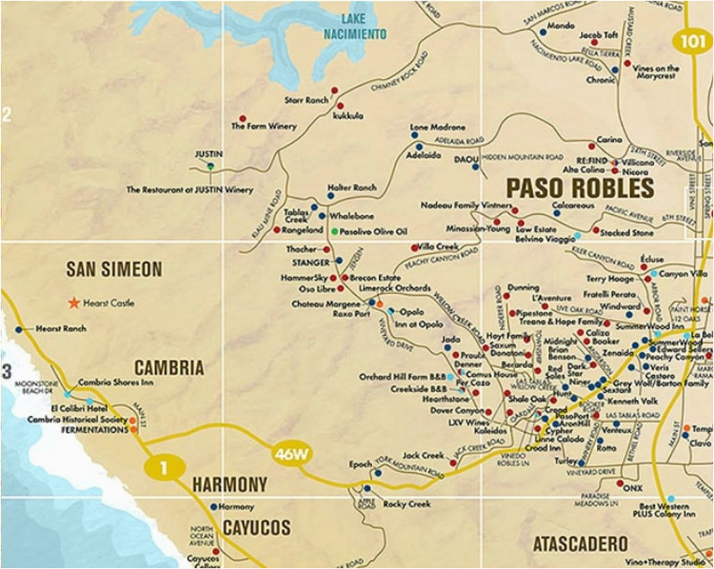 map of paso robles california massivegroove com