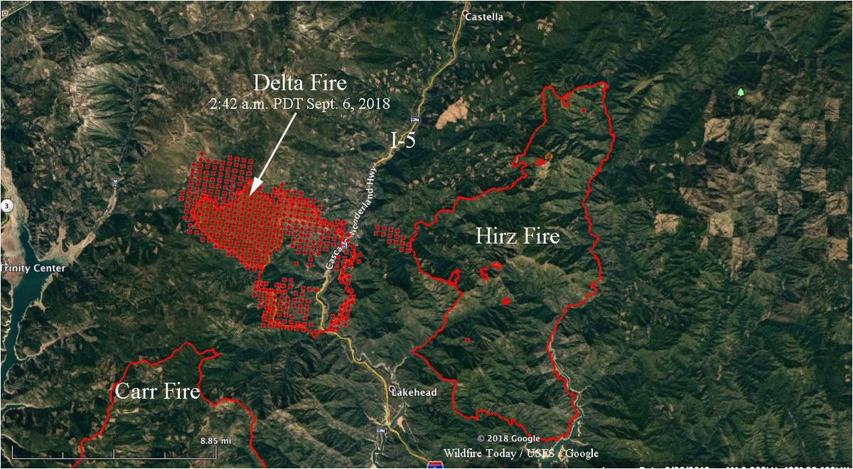wildfire today d on twitter higher res version of the delta fire