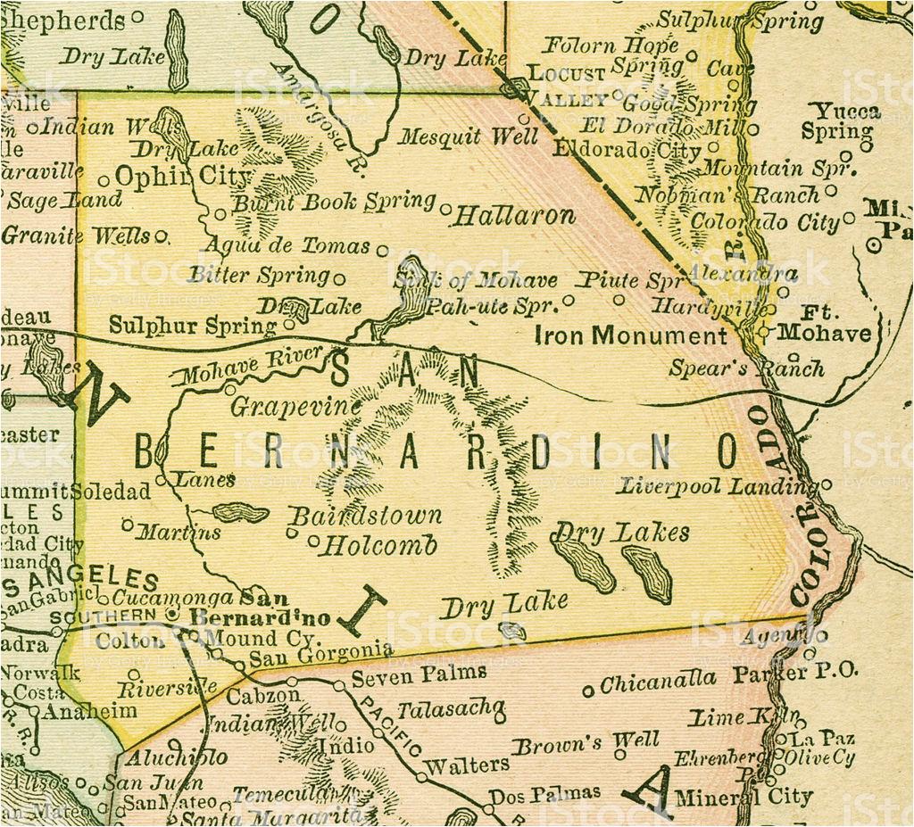 san bernardino california county maps stock vector art more images