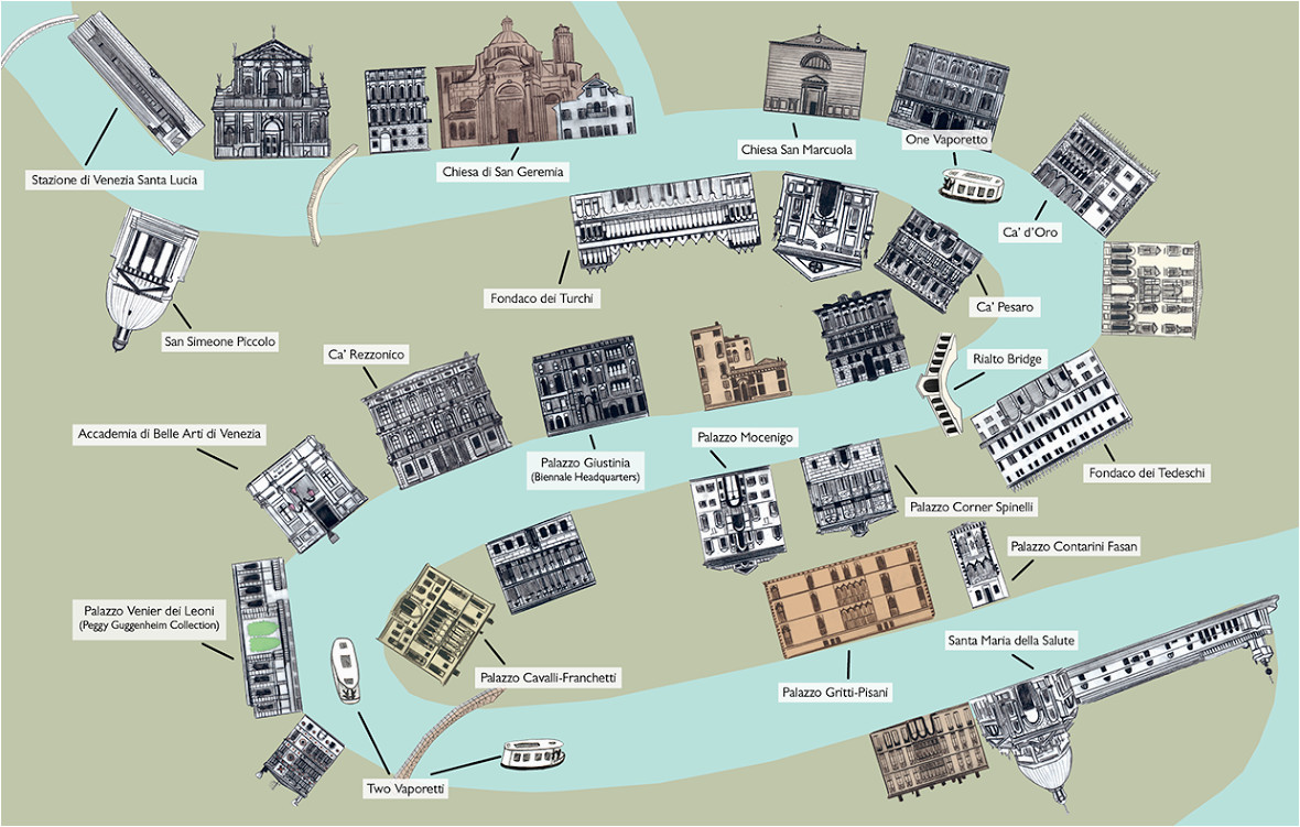 venice grand canal map rabbit guides an alternative look at