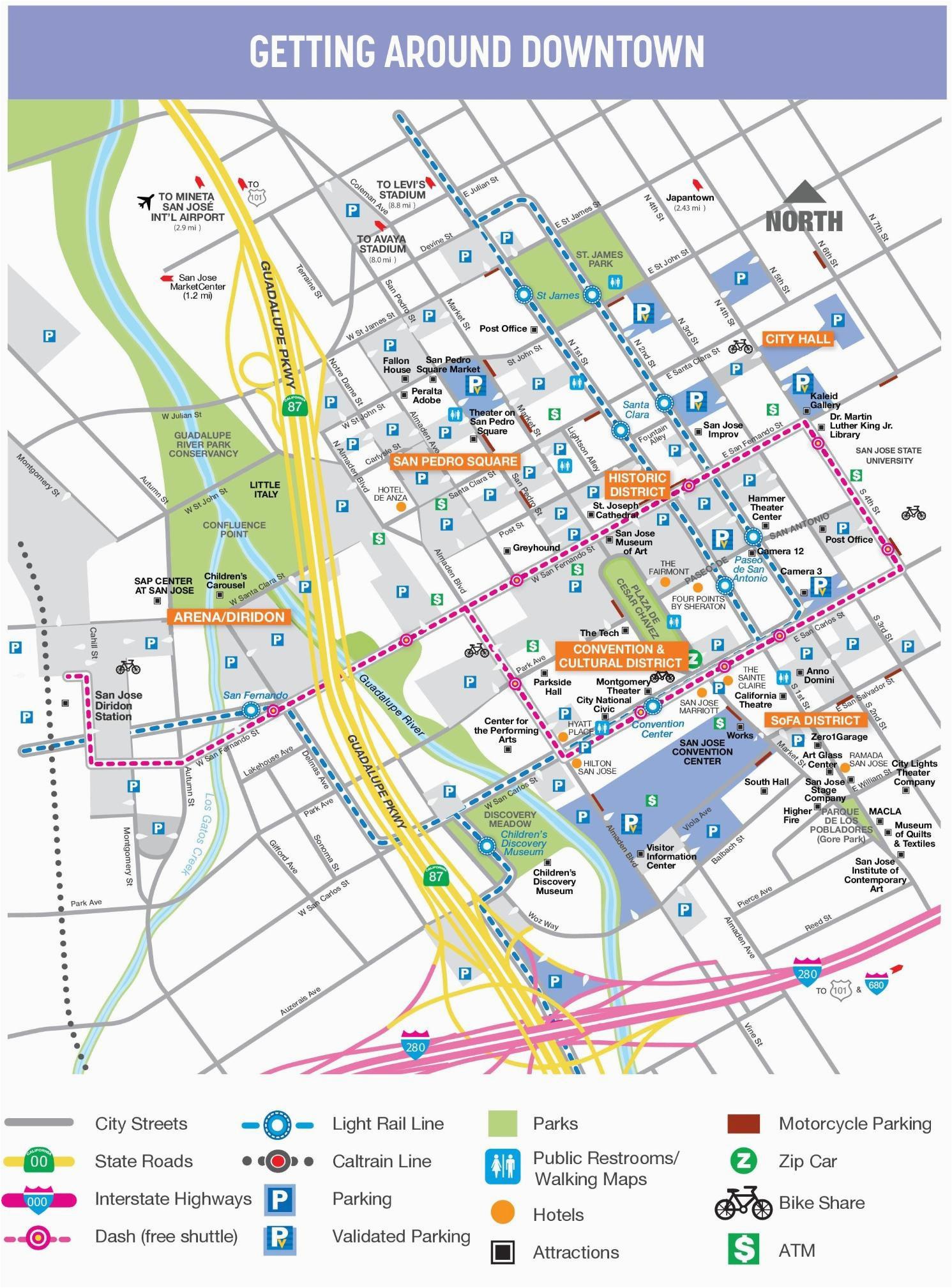 where is sunnyvale california on a map printable san jose downtown