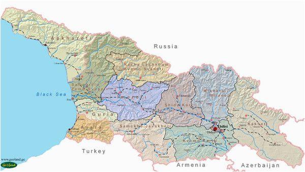 georgia country map georgia batumi tbilisi in 2019 pinterest