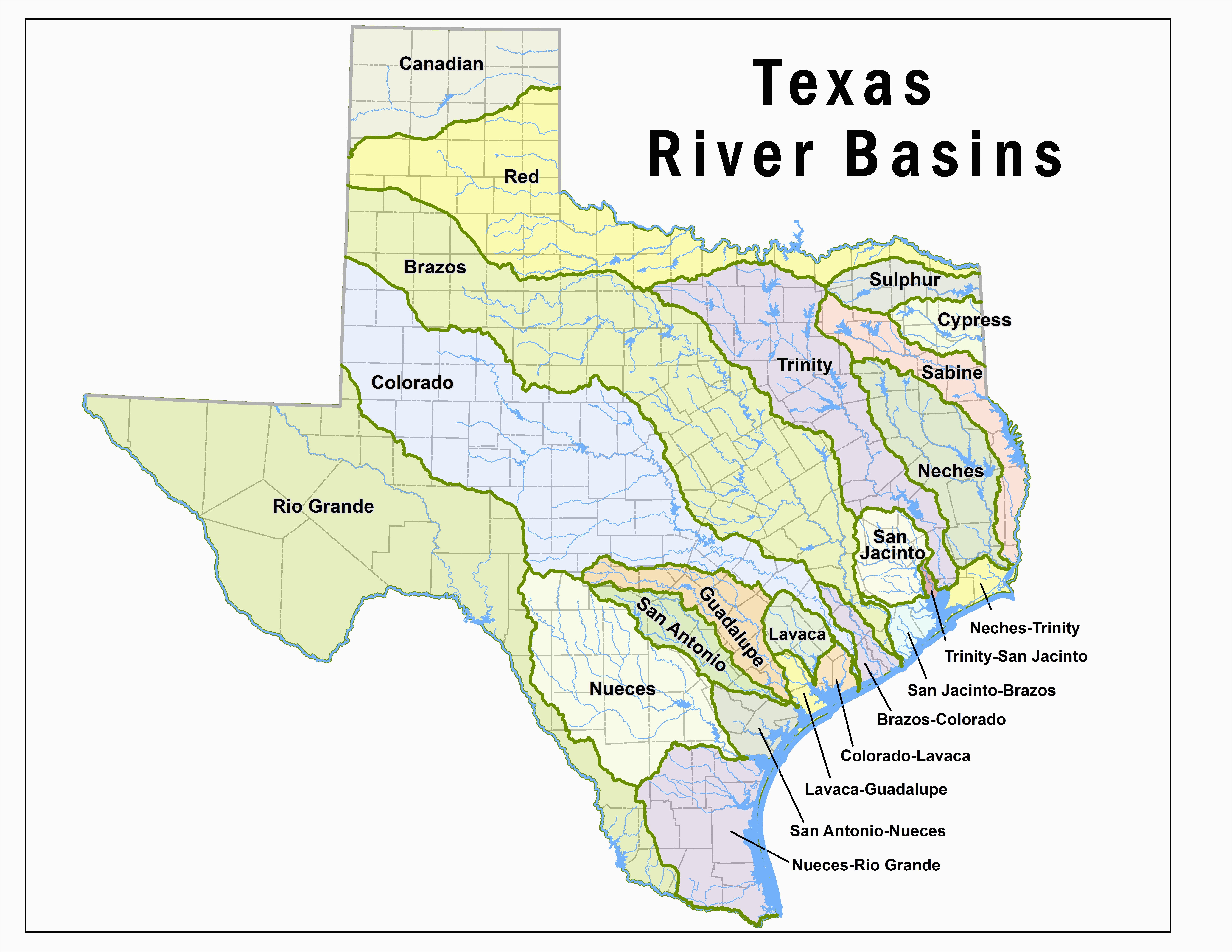 Where is the Colorado River Located On A Map Texas Lakes Map Fresh ...