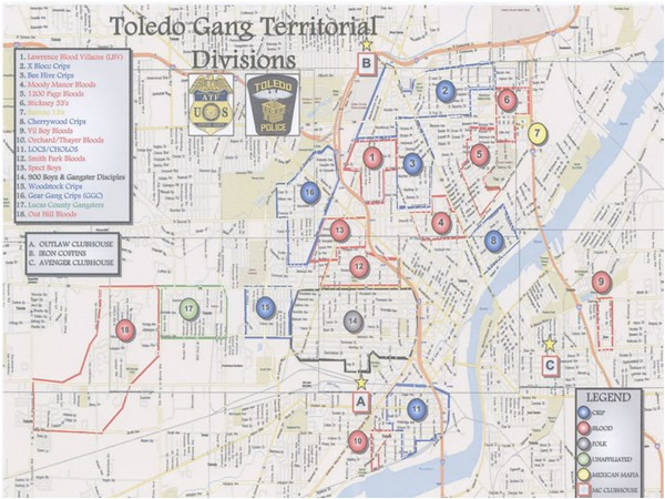 the blade obtains toledo police department s gang territorial