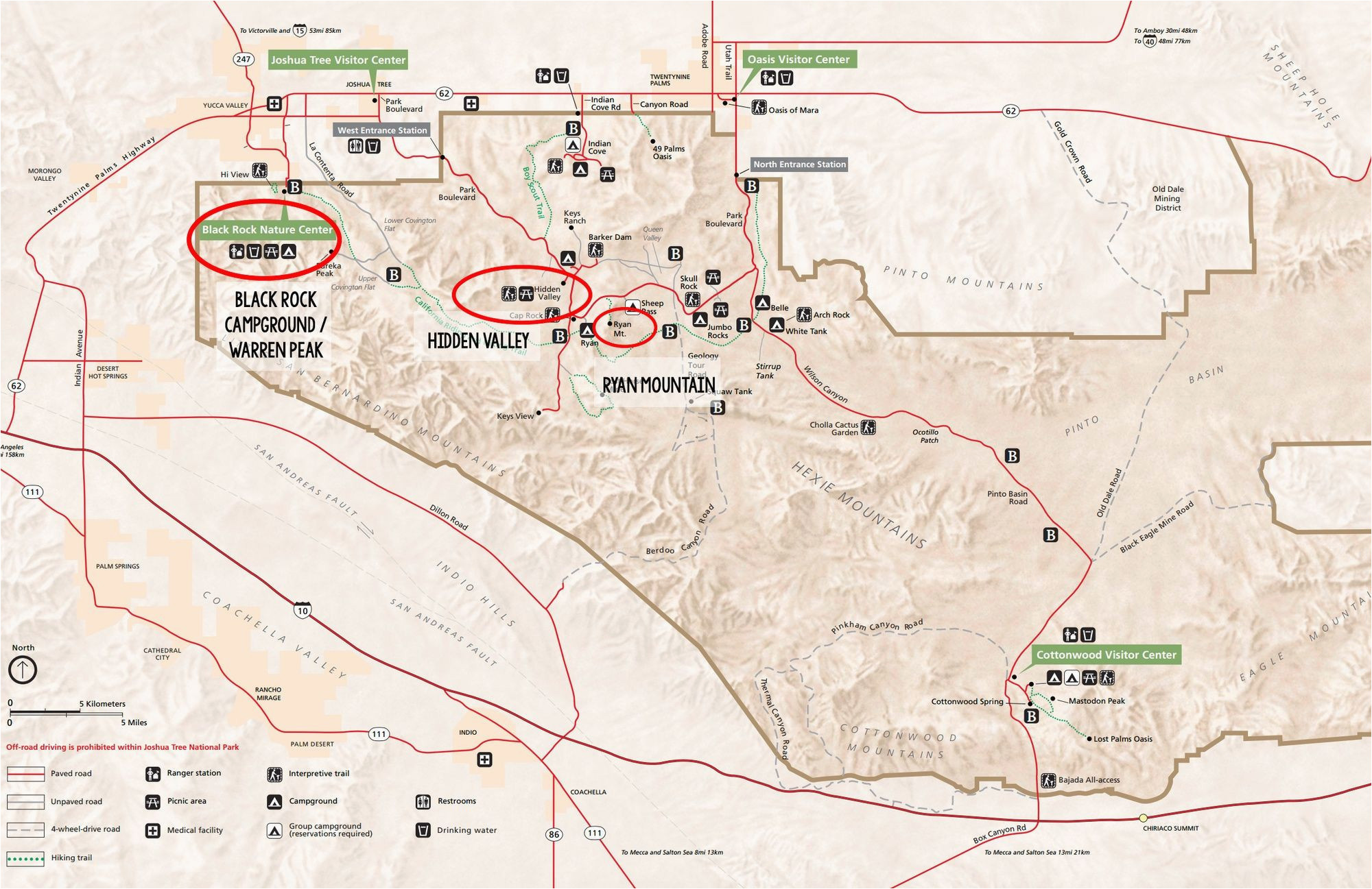 map national parks gallery best joshua tree hikes for first time