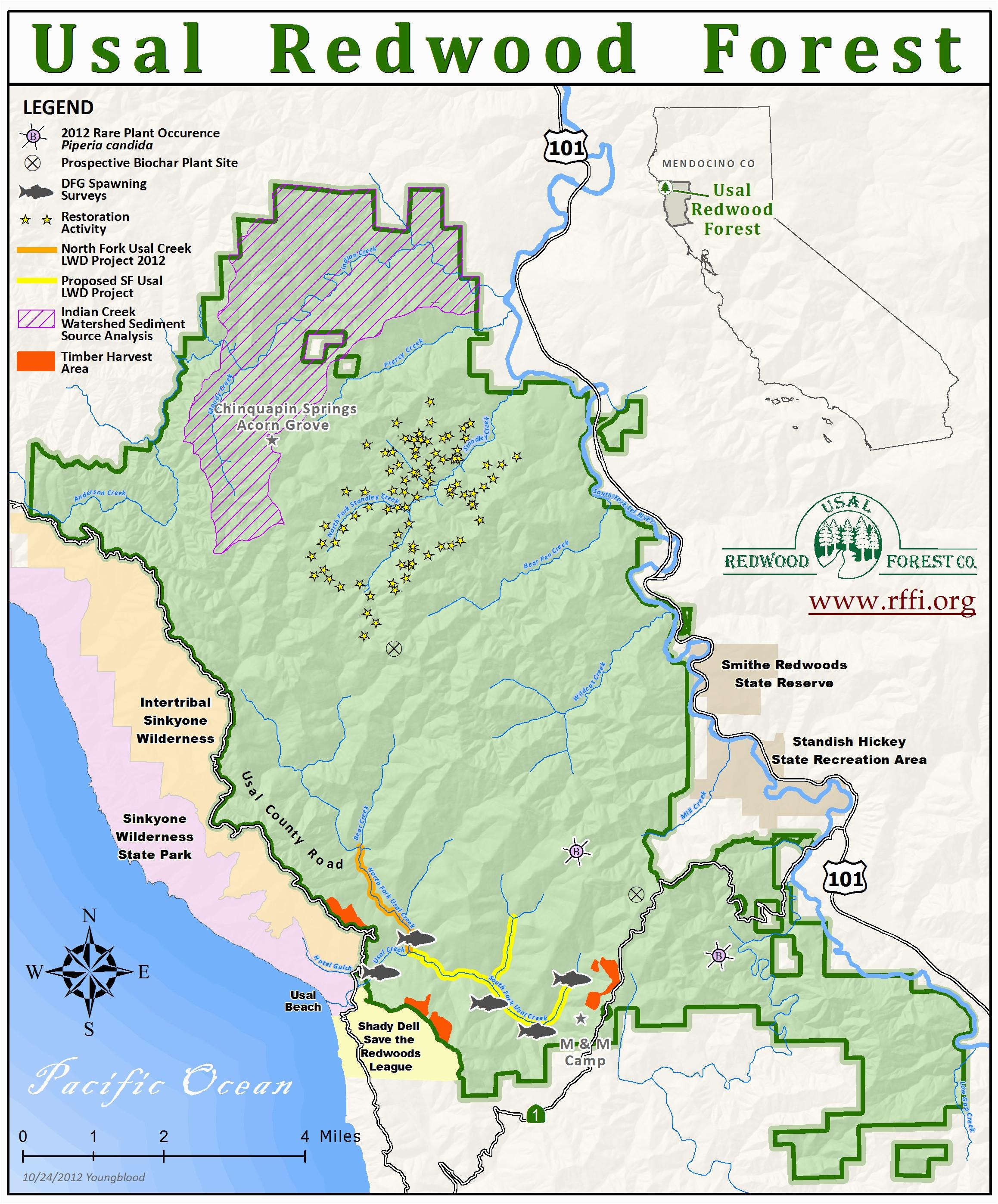 california redwoods map fresh white mountains california map
