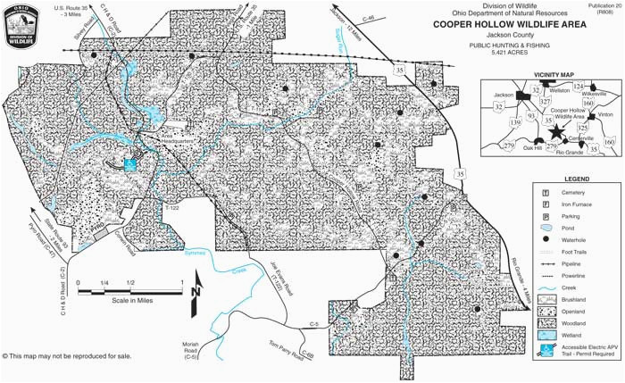 Wild Boar In Ohio Map Cooper Hollow Wildlife area