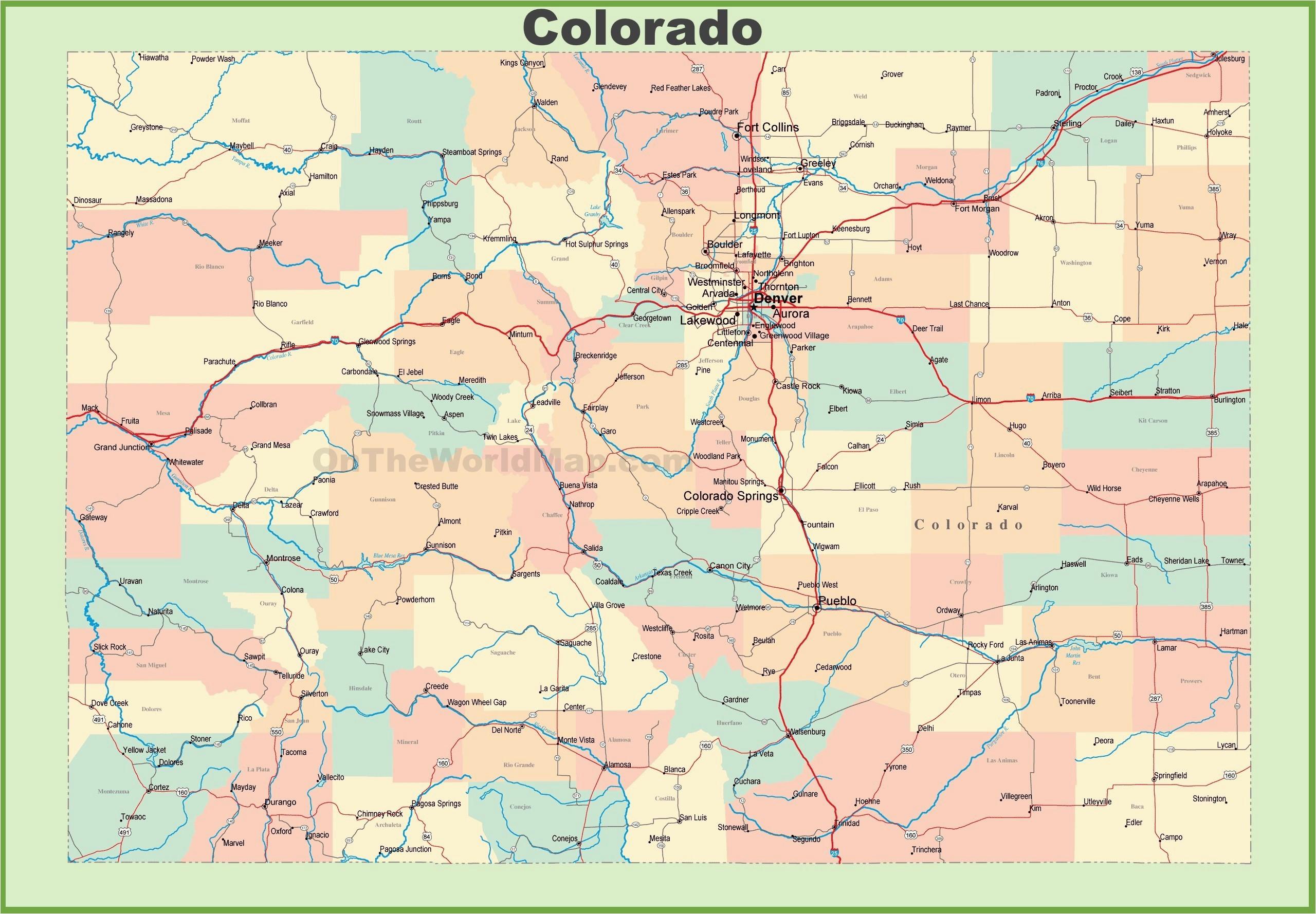 Wyoming and Colorado Map | secretmuseum