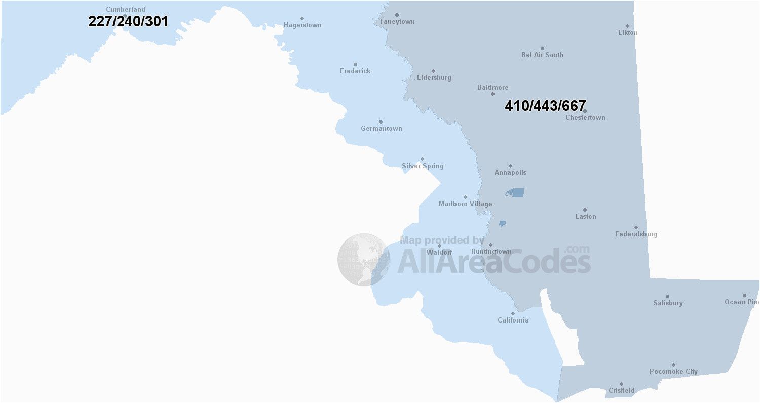 maryland area codes map list and phone lookup