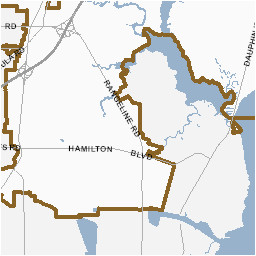 Zip Code Map Of Mobile County Alabama City Map