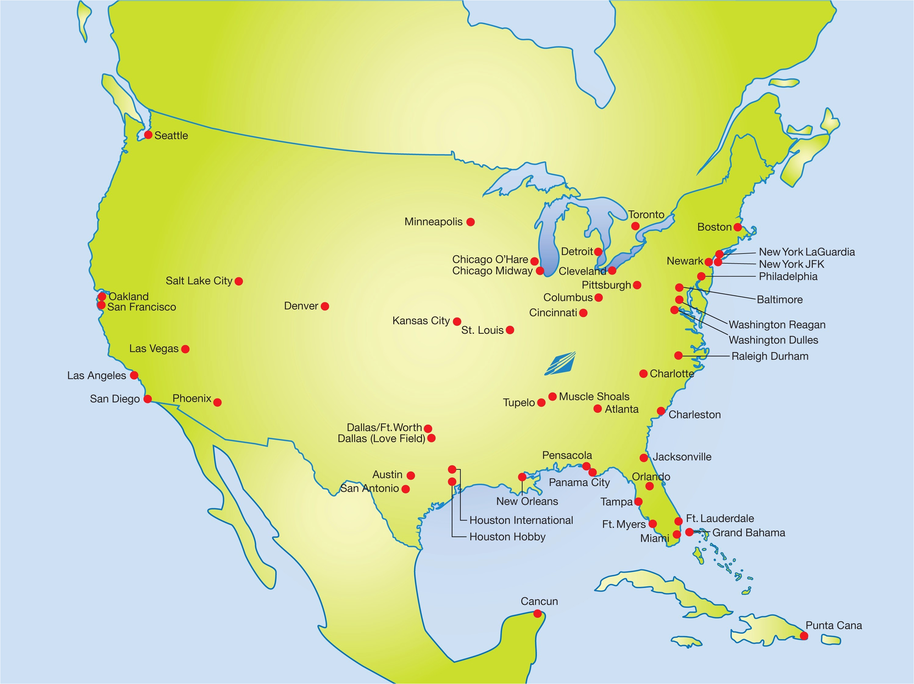 Airports In southern California Map Us East Coast Airport ...