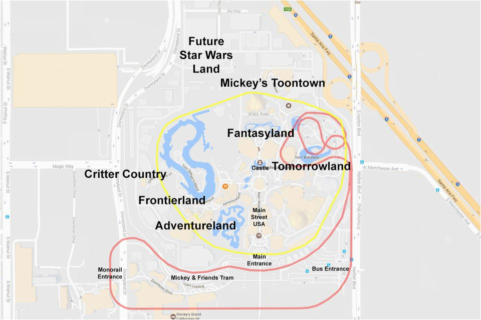 California Map Google Maps.Anaheim California Map Google Maps Of The Disneyland Resort