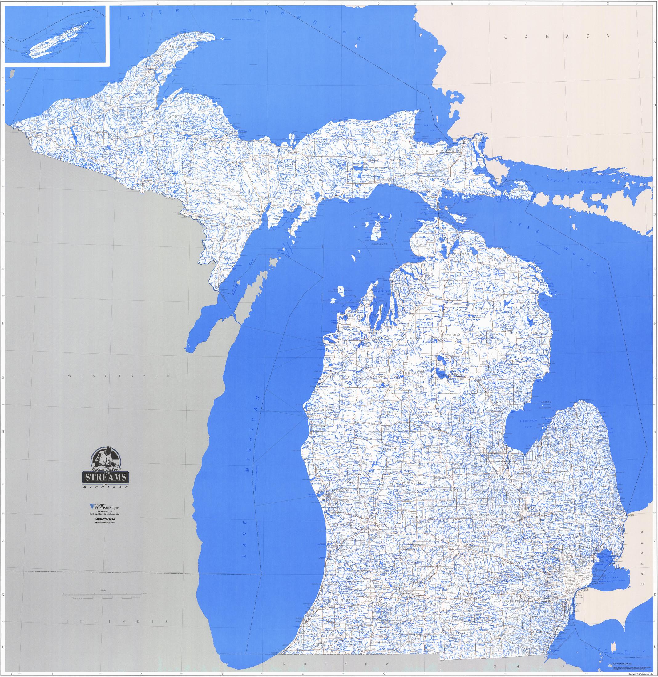 26 lastest map michigan lakes bnhspine com