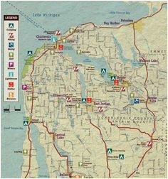 9 best walloon lake maps images blue prints cards map