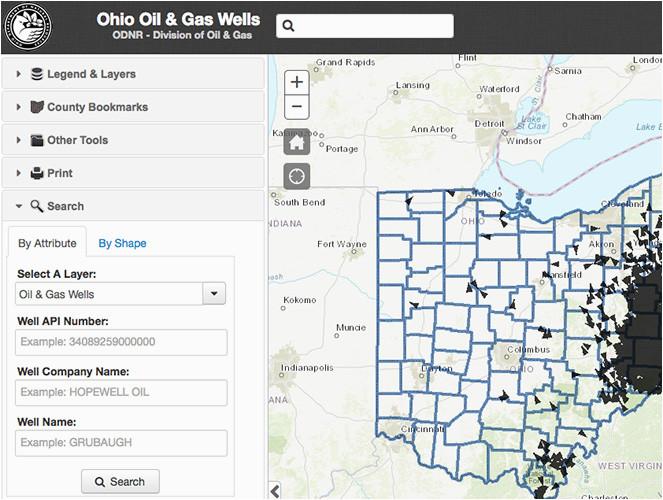 oil gas well locator