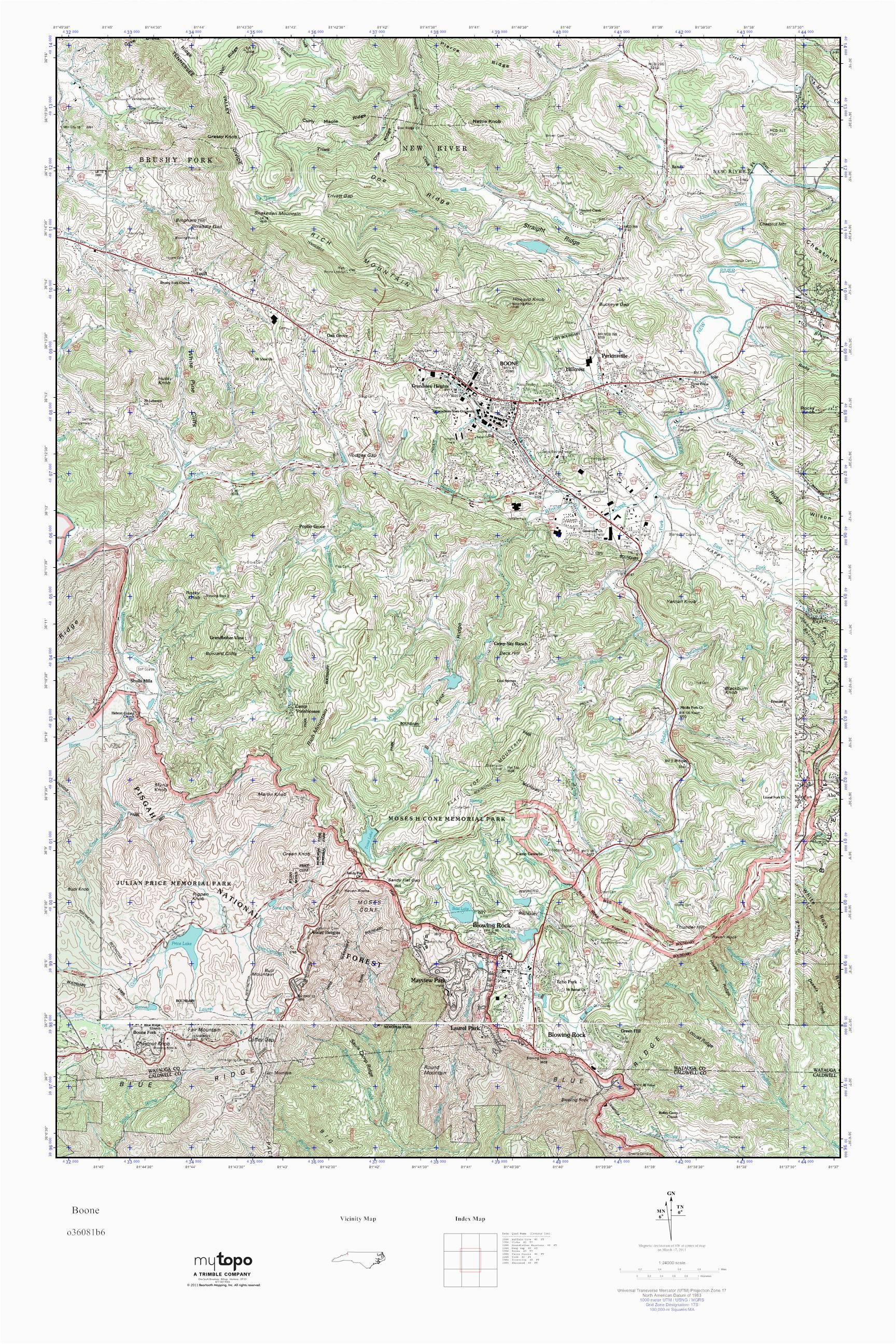 mytopo boone north carolina usgs quad topo map