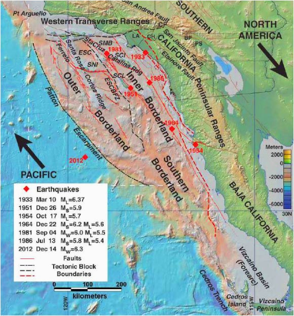california map fault lines researchers map active fault zones off