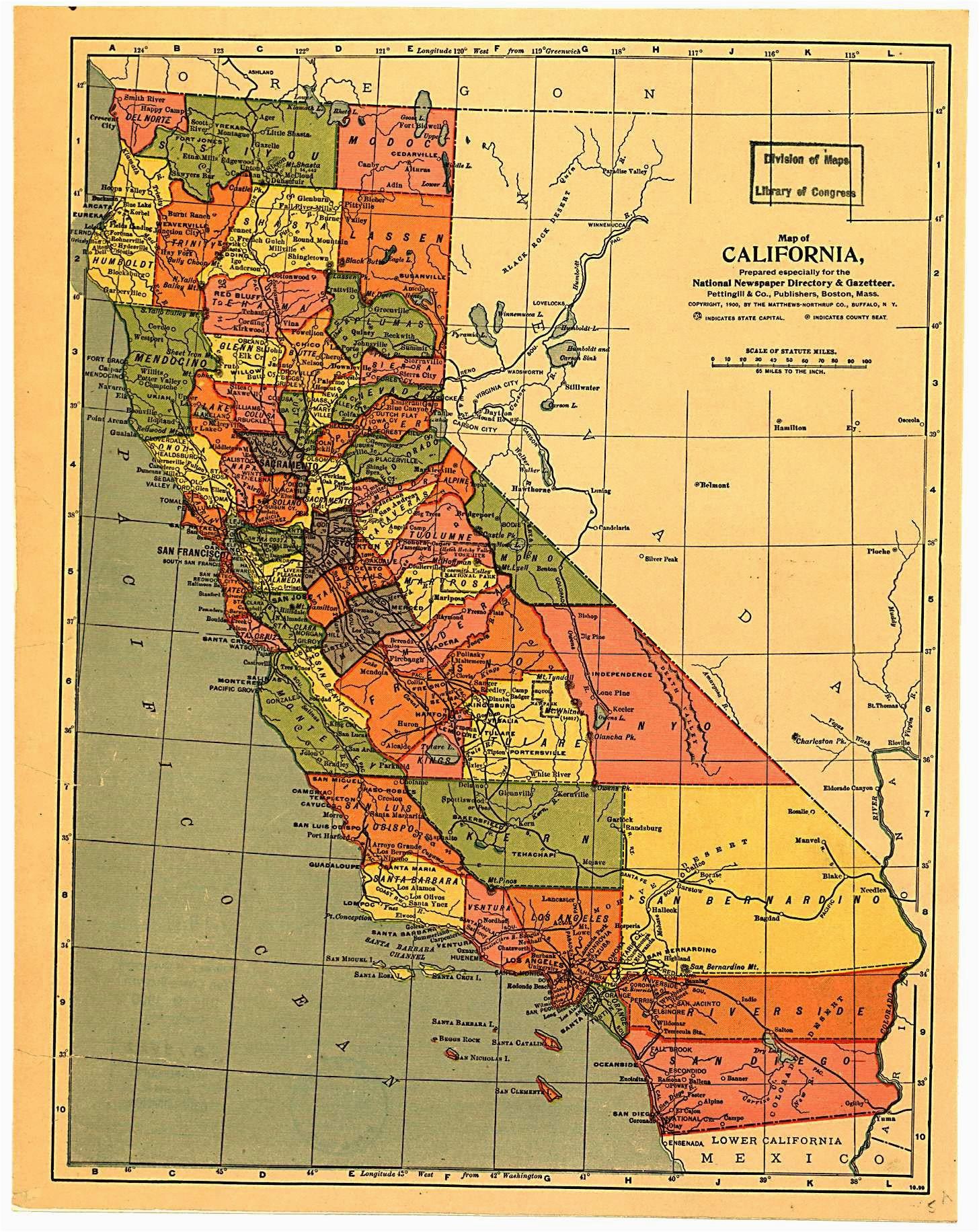 california map 1900 maps california history california map