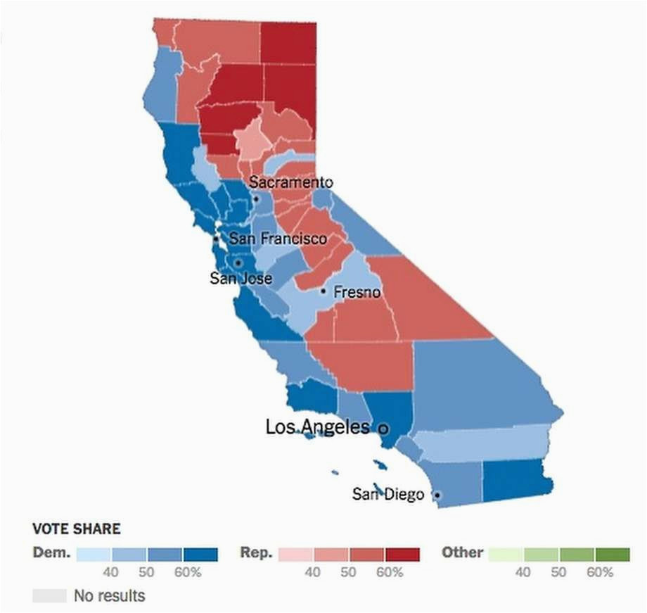 Map Of California Election Results.California Election Results By County Map Secretmuseum
