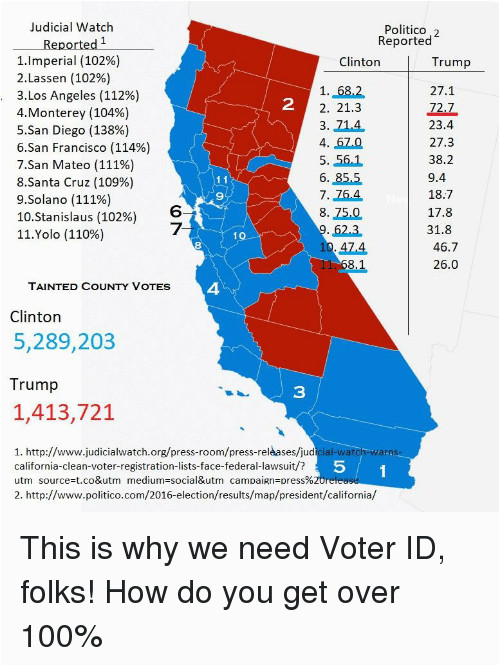 California Election Results by County Map California ...
