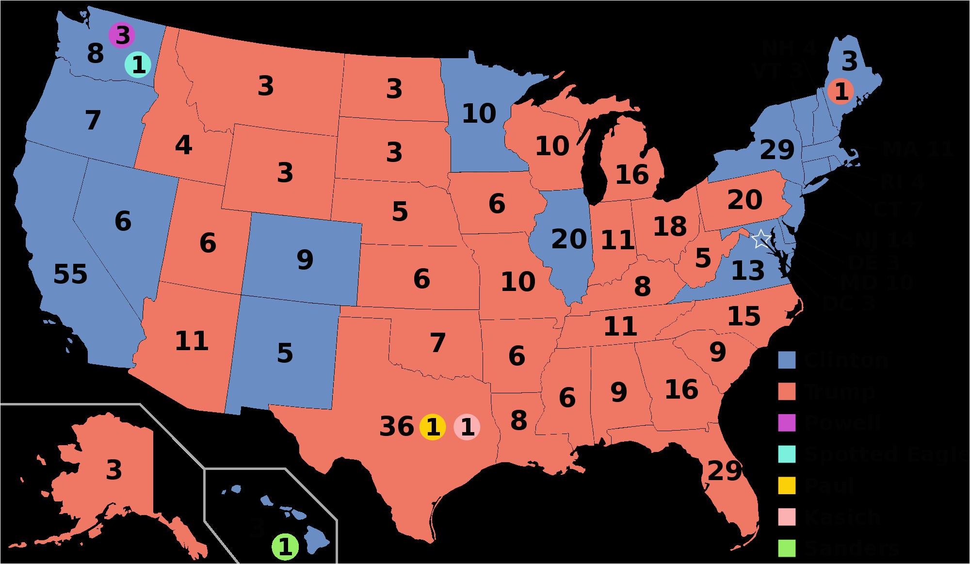 California Electoral Map Electoral Vote Changes Between ...