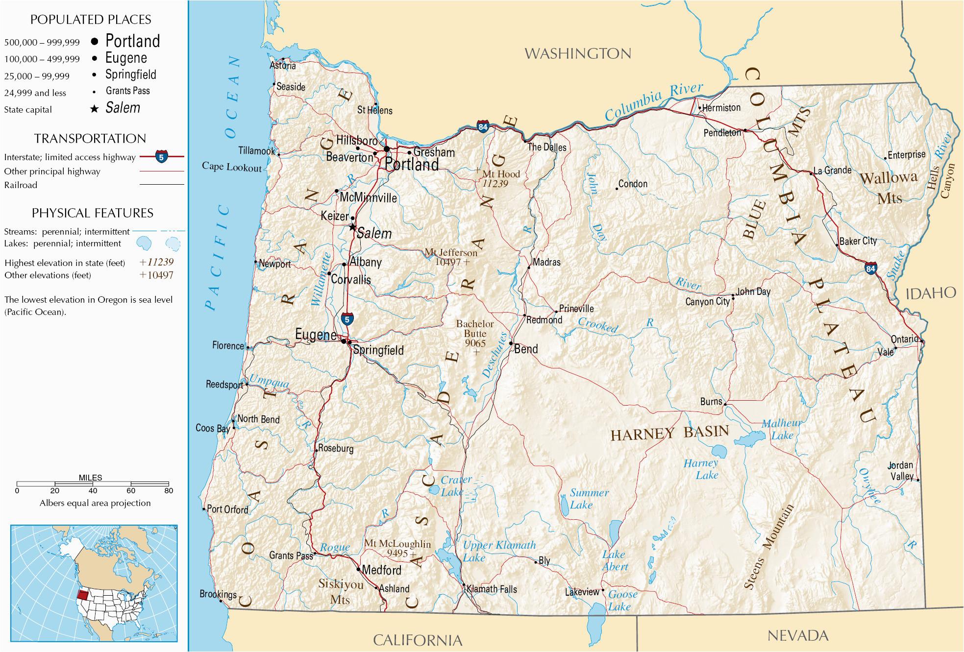 oregon mountains map beautiful california mountain range map