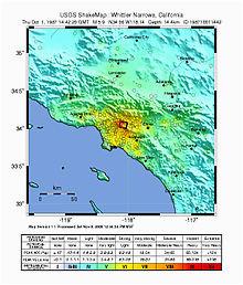 1987 whittier narrows earthquake wikipedia