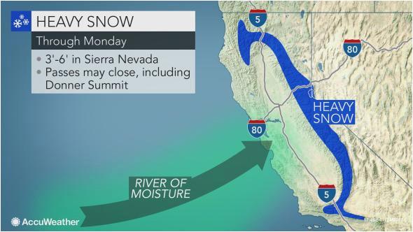california snow map luxury california to face more flooding rain