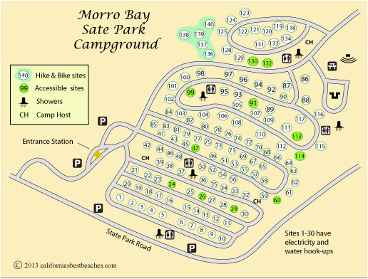 California State Park Camping Map California State Parks Map Best Of ...