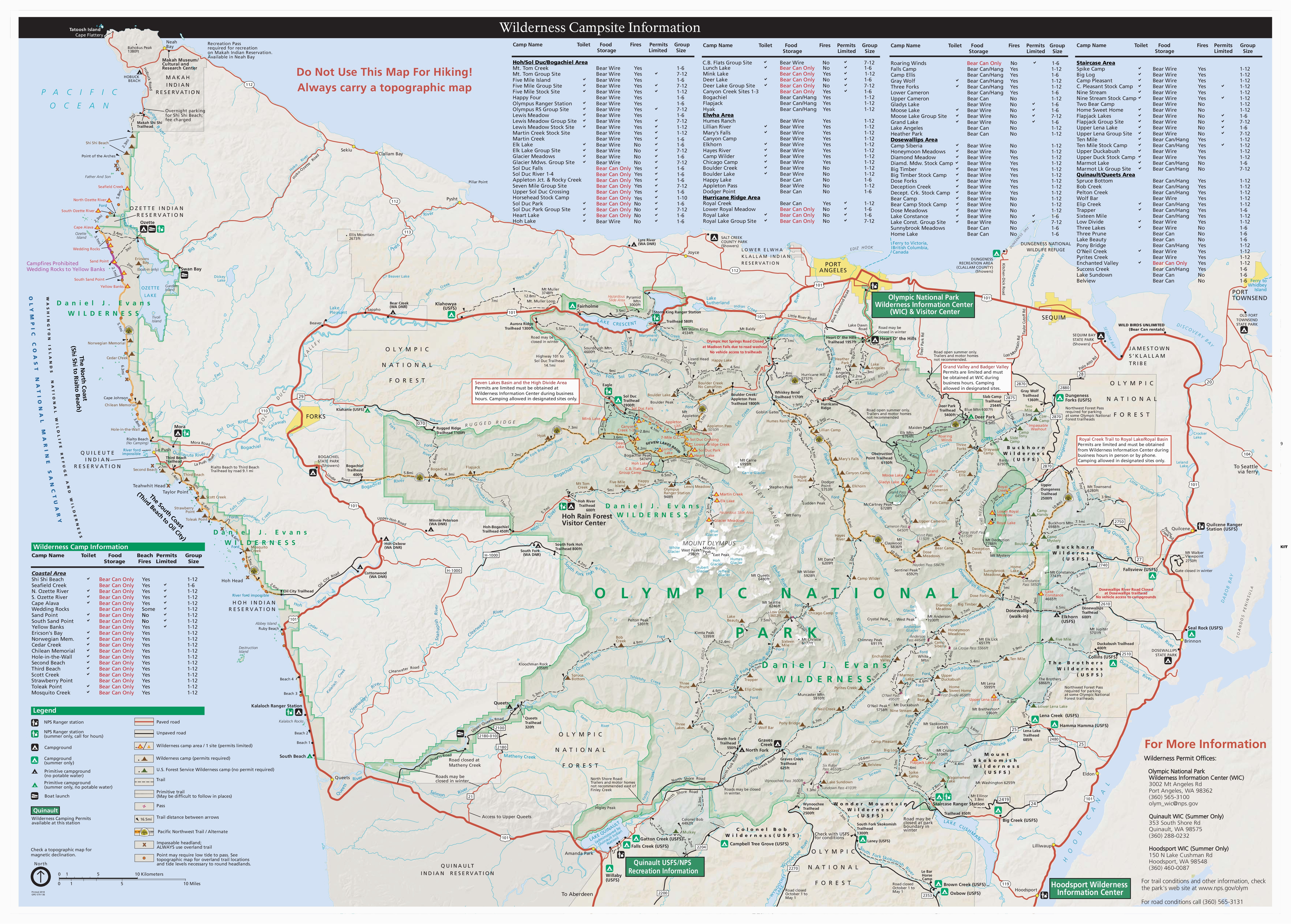California State Park Camping Map Maps Olympic National Park U S ...