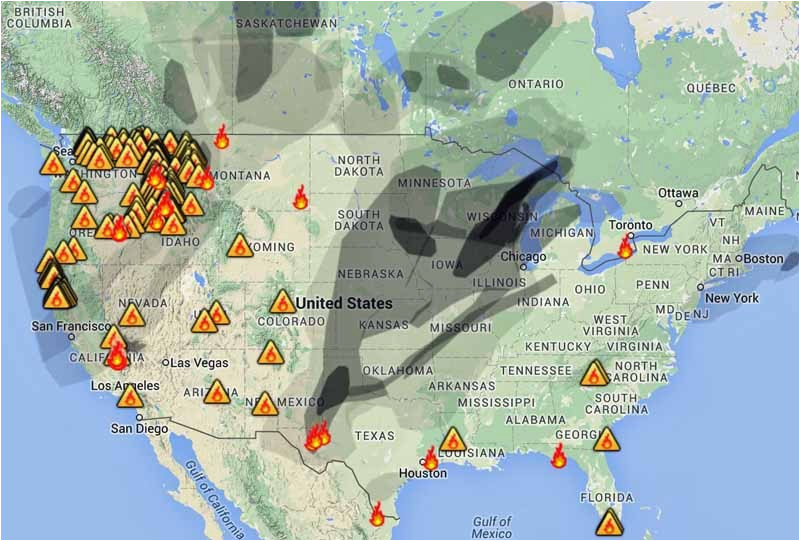 California Wildfire Smoke Map Wildfire Smoke Map August 31 2015 Wildfire today