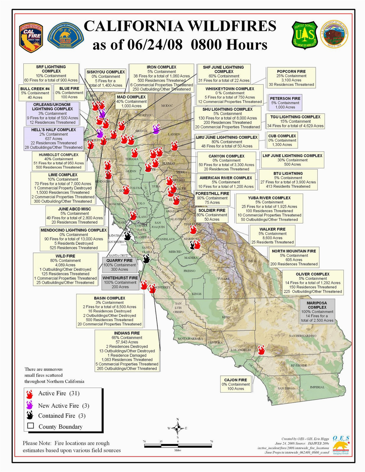 California Wildfires 2014 Map northern California Wildfire Map ... on