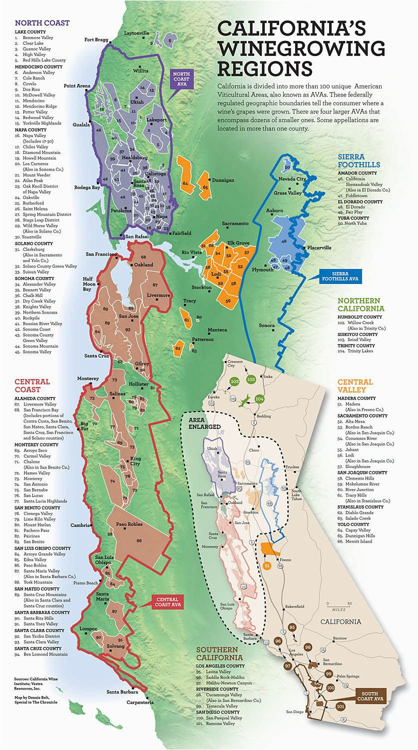 Central California Wineries Map on