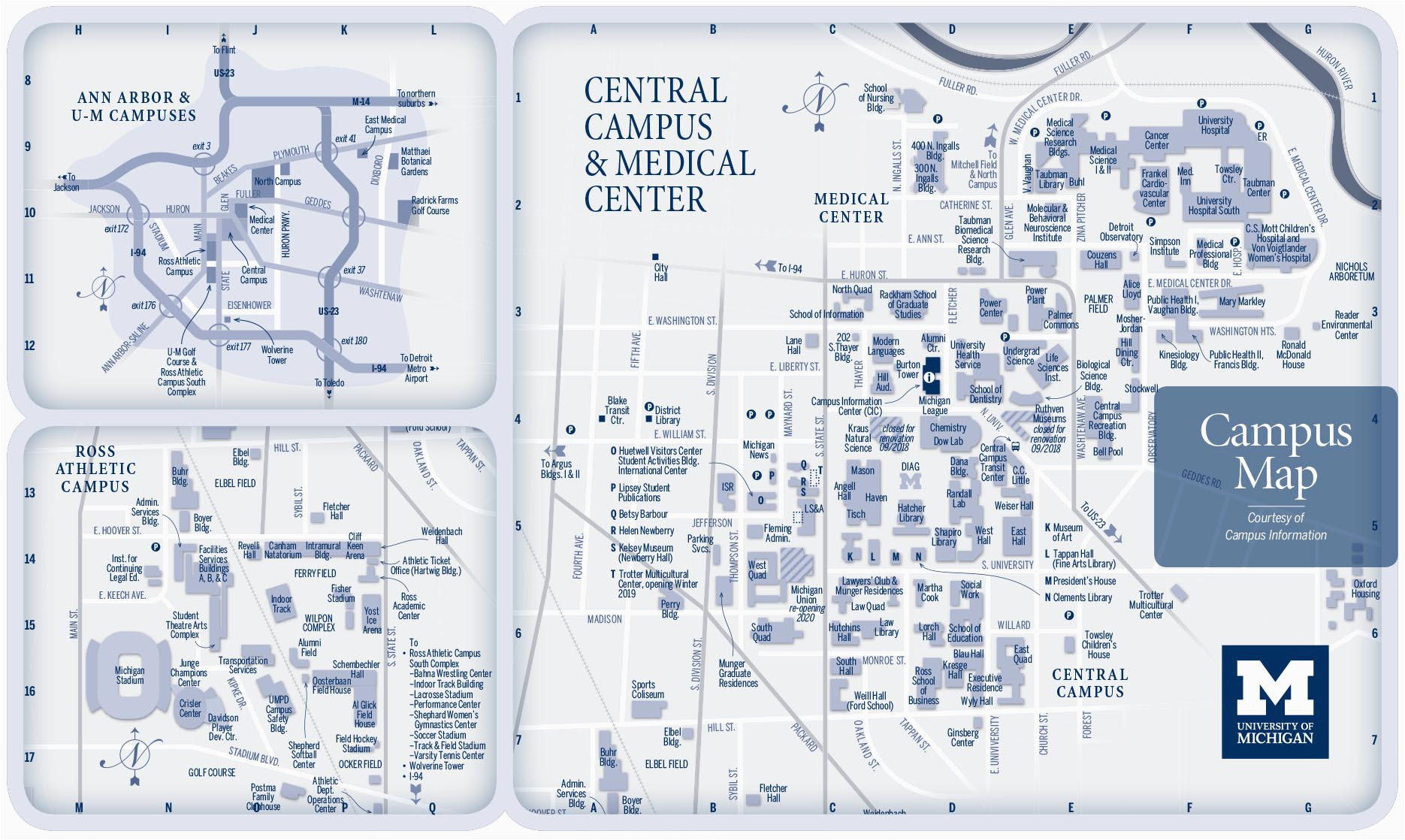 campus maps university of michigan online visitor s guide
