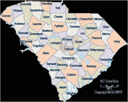 south carolina county maps