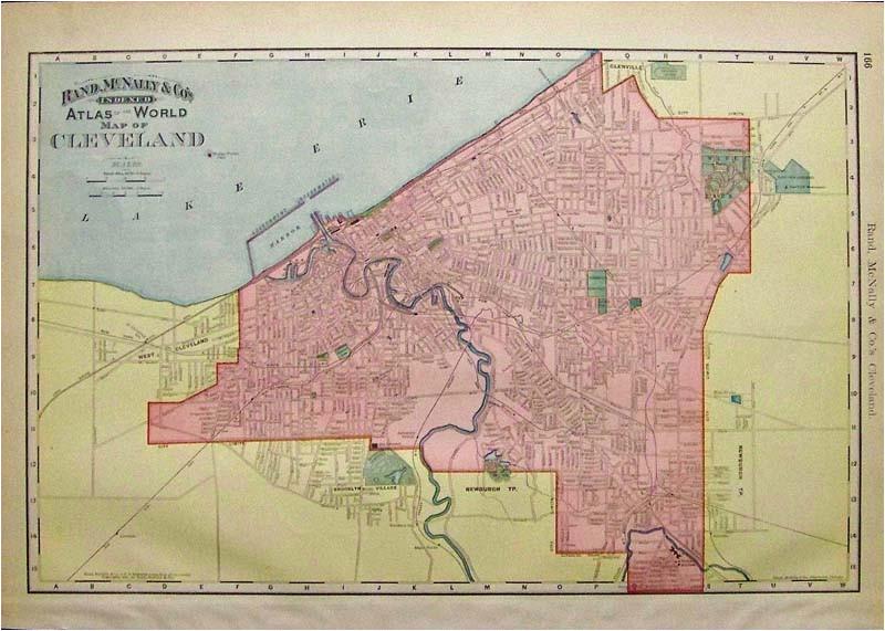 prints old rare cleveland ohio antique maps prints