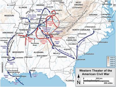 western theater of the american civil war wikipedia