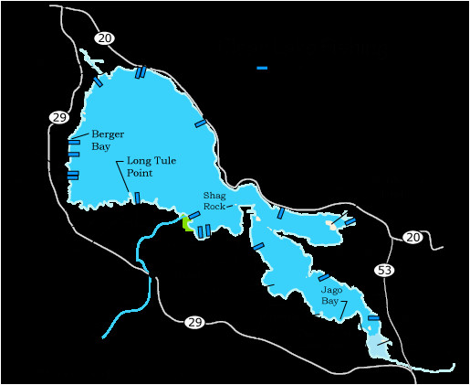 Clear Lake Map California Clear Lake Fishing