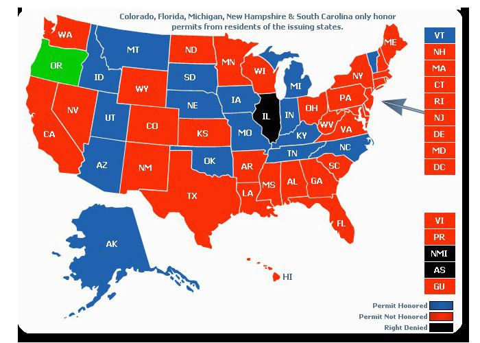 Colorado Concealed Carry Reciprocity Map Reciprocity Map New - Us-concealed-carry-reciprocity-map
