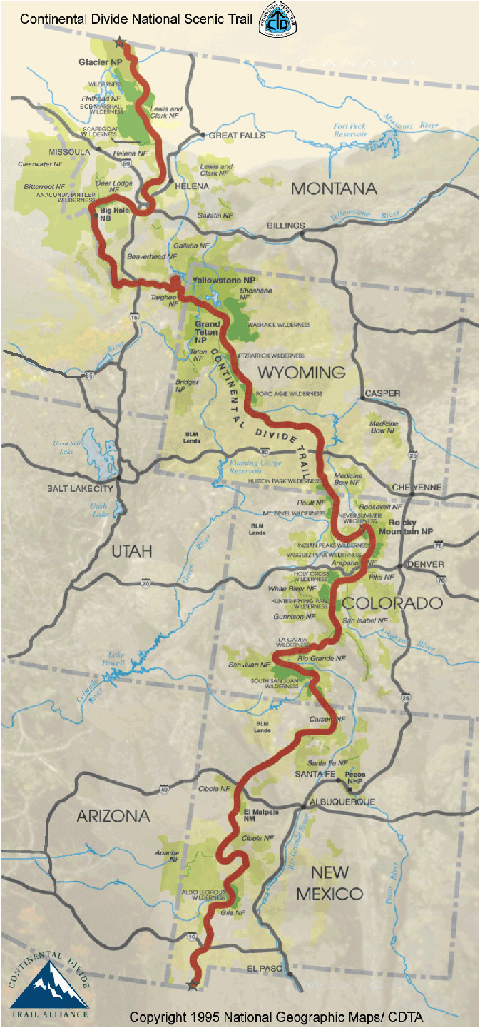 continental divide trail colorado continental divide trail map see